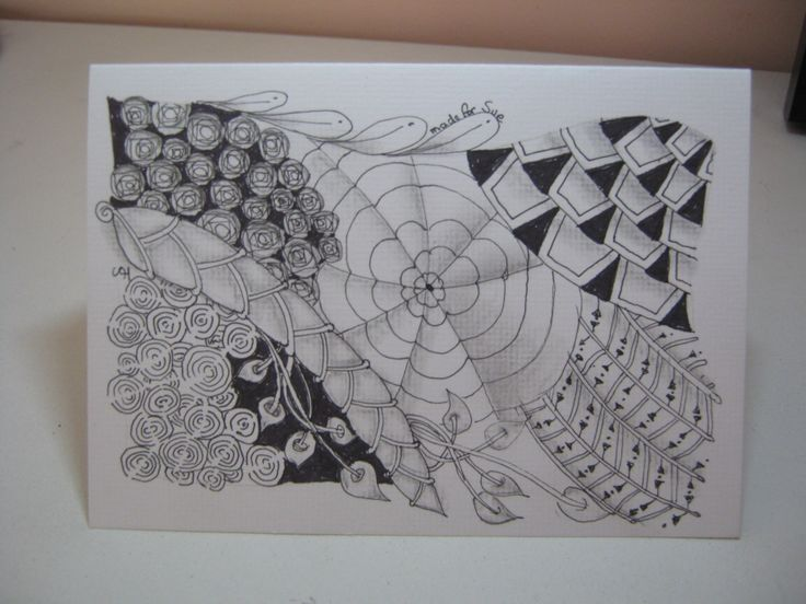 Zentangle Card made for a friend.