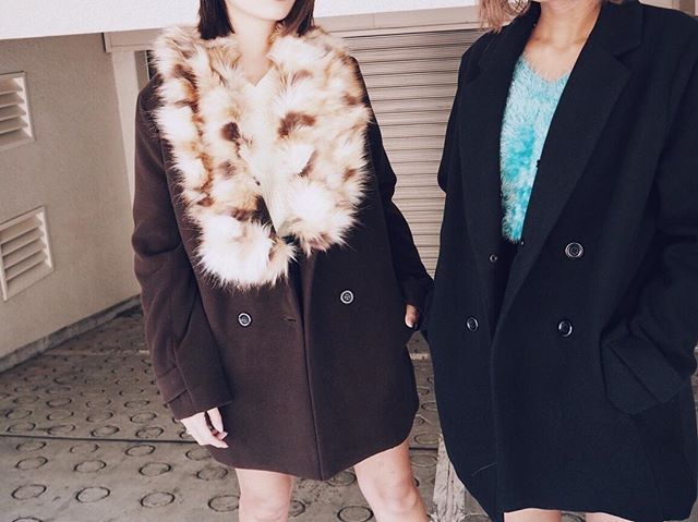 _  _ fur color short coat BRN/BLK ¥14,990+tax _ now on sale☞ _ #EVRIS #newin #item #look #pic #fashion #vgram #like4like #photo #instagood #instagram #awesome #RUNWAYchannel #newin #newarrival #l4l #RCTL