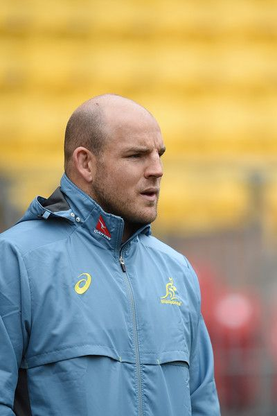 Stephen Moore Photos Photos - Stephen Moore during the Australia Wallabies Captain's Run at Westpac Stadium on August 26, 2016 in Wellington, New Zealand. - Australian Wallabies Captain's Run
