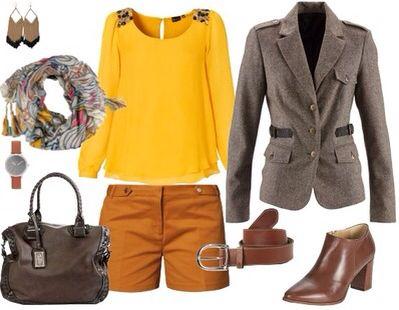 Rentrée tweed camel-moutarde