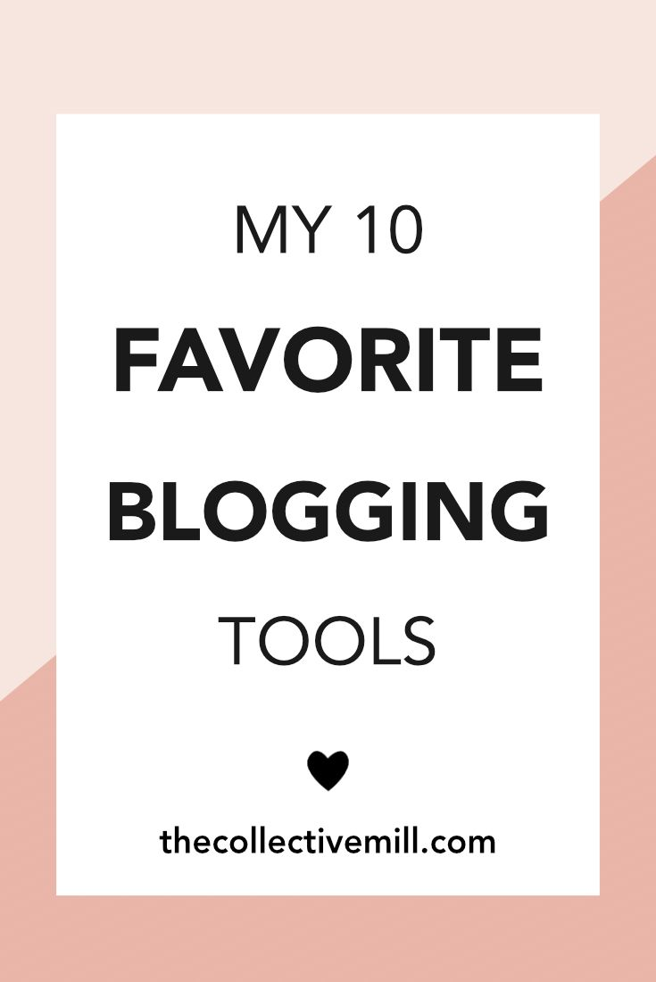 My 10 Favorite Blogging Tools: When I was a new blogger, it took me so much time and research to figure out the best software, plugins, and platforms to use for my blog. I didn't know who should host my blog, how to manage my social media accounts, or the