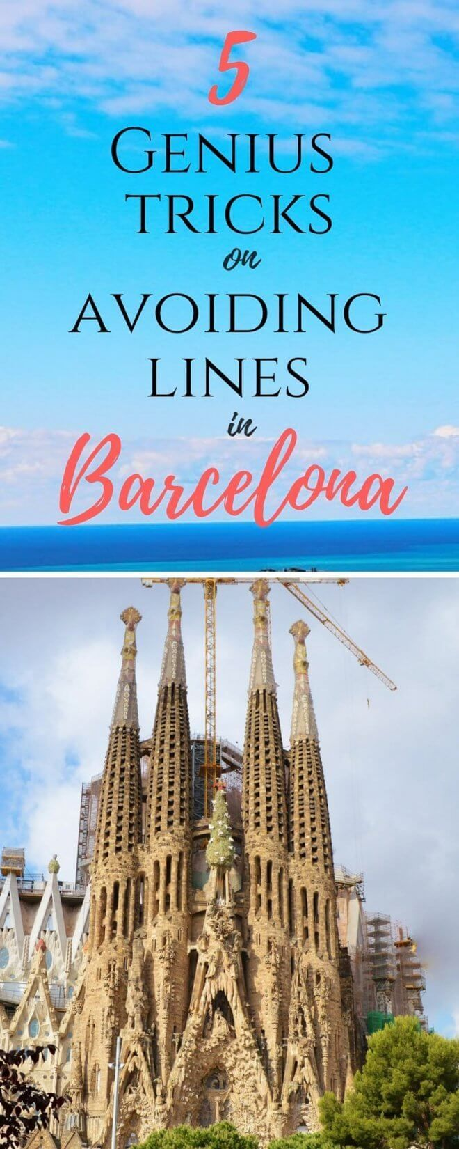 Here are some genius tricks on avoiding the lines to the most crowded places in Barcelona. Things to do in, Las Ramblas, Food, Travel, Beach, Nightlife, Architecture, Sagrada Familia, Casa Mila, Casa Battlo, Picasso Museum, Park Guell, Qothic Quarter, top 10, Bucket list, Free Activities, With Kids