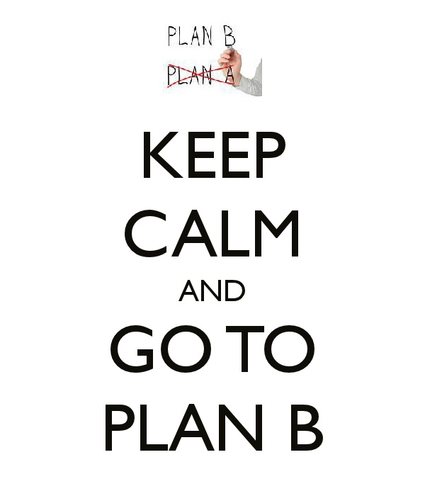Plan B - I am the queen of the backup plan!!