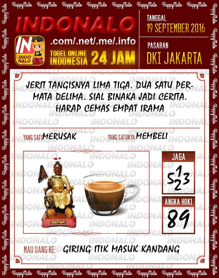 Angka Pakong Togel Wap Online Live Draw 4D Indonalo DKI Jakarta 19 September 2016
