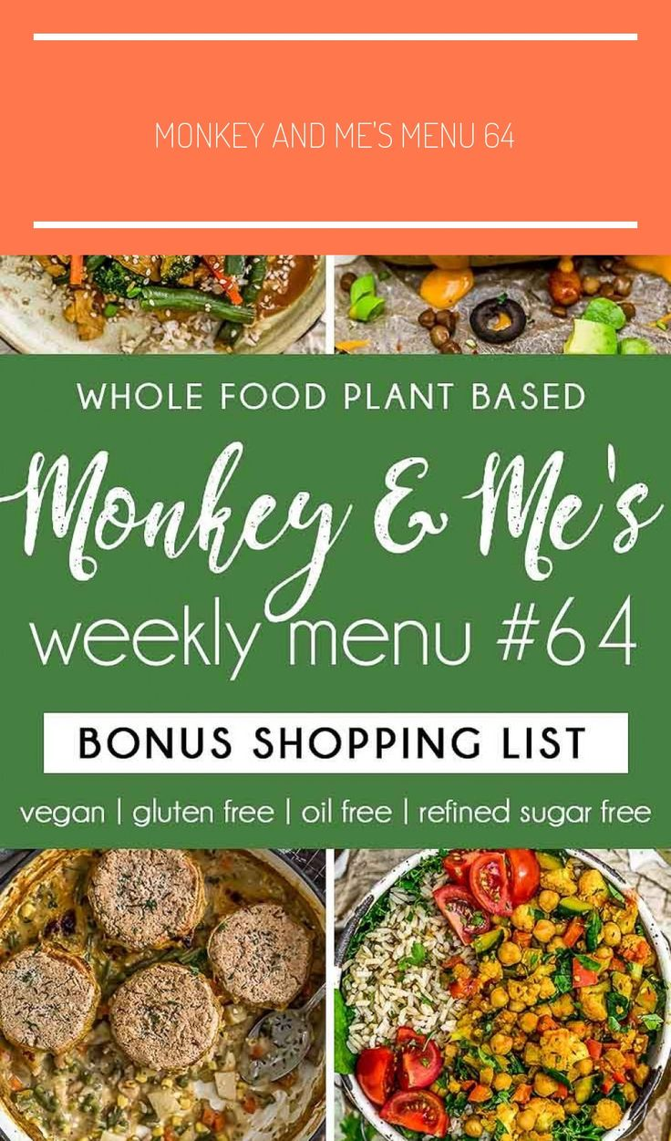 Monkey and Me's Menu 64 features delicious, wholesome