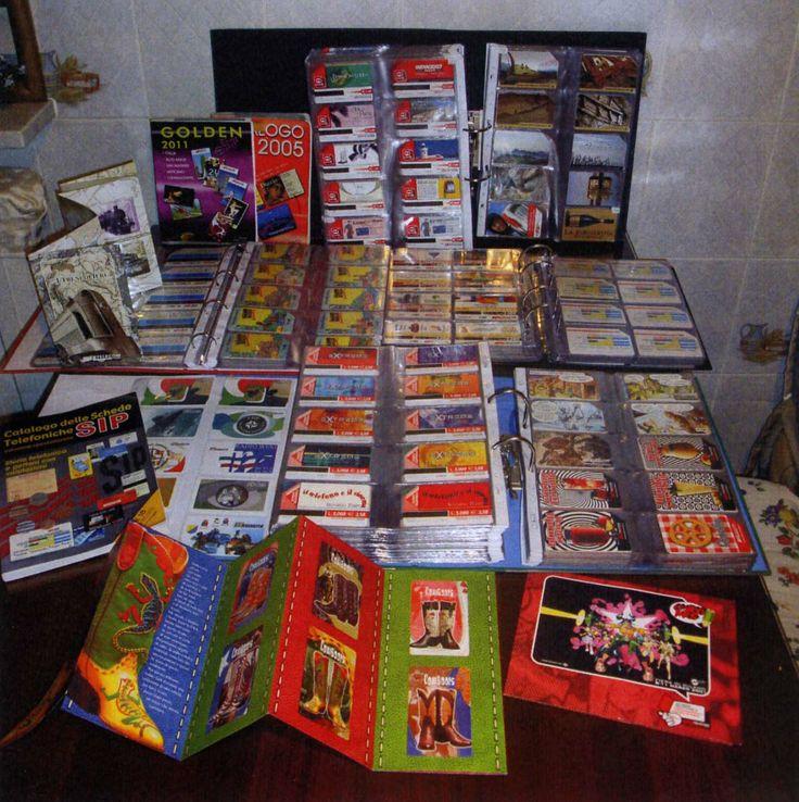 """Nel 2005 comprai il primo catalogo specializzato (…). Da quel momento capii che non stavo più solo """"raccogliendo"""": era iniziata la mia collezione"""" (Stefano Rossi, colelzione """"Schede telefoniche"""")."""