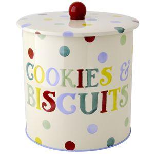 """Polka Dot"" Polka Dot Text Biscuit Barrel at Emma Bridgewater"