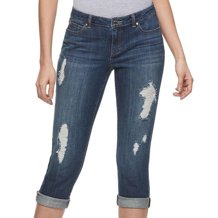 Jennifer Lopez Womens Ripped Capri Jeans Mid Rise Slim Stretch size 14 NEW  https://www.ebay.com/itm/Jennifer-Lopez-Womens-Ripped-Capri-Jeans-Mid-Rise-Slim-Stretch-size-14-NEW-/232669344839?var=&hash=item7be63b253d