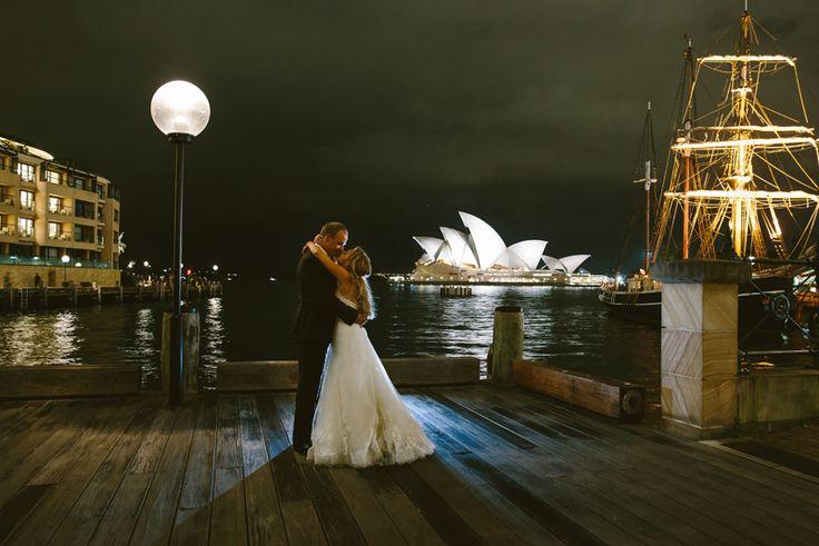 Sydney Harbour at night. Sydney Wedding Photographer. Image: Cavanagh Photography http://cavanaghphotography.com.au