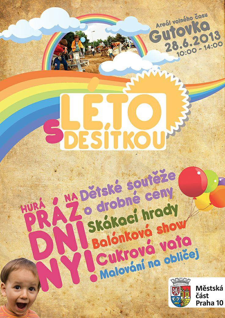 """Vizuál """"Léto s desítkou"""" Zadavatel: Praha 10"""