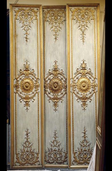 Antique Wood Paneling For Walls: Baroque, Regance And Louis XIV