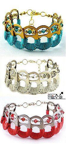 Bracelets made of coke tabs