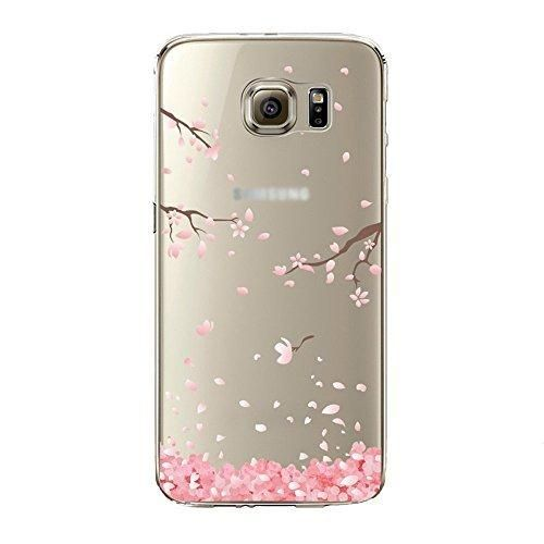 Urberry Galaxy S7 Edge Case S7 Edge Soft Case Spring Flower Case Cover for Samsung Galaxy S7 Edge with a Free Screen Protector