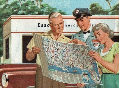 When gas stations had free maps...Really kids, they did!