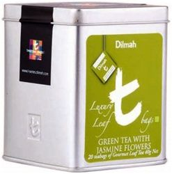 Dilmah Green Tea with Jasmine Flowers - Luxury line from a classic tea maker.