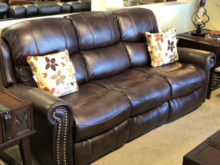 Add style to any room with nailhead trim. #furniture #savemoney #freedelivery #livingroom #sofa #loveseat #recliner