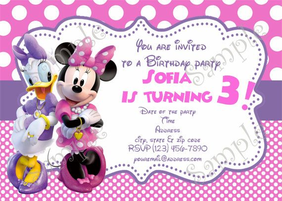Minnie Mouse Birthday Invitation And Thank You By PapelPintado