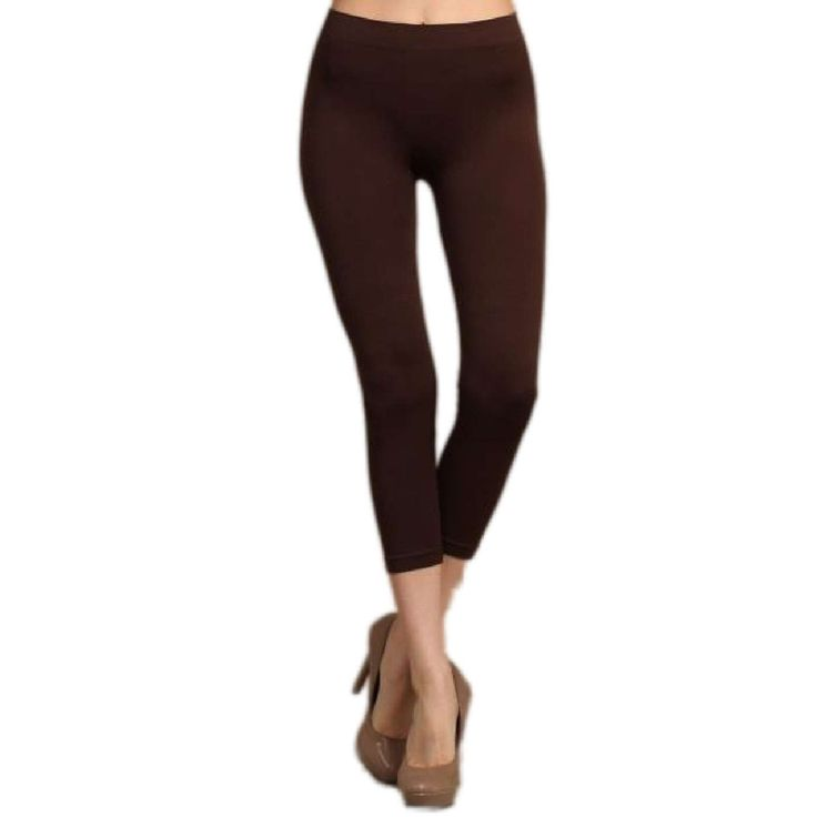 Capri Leggings, Brown