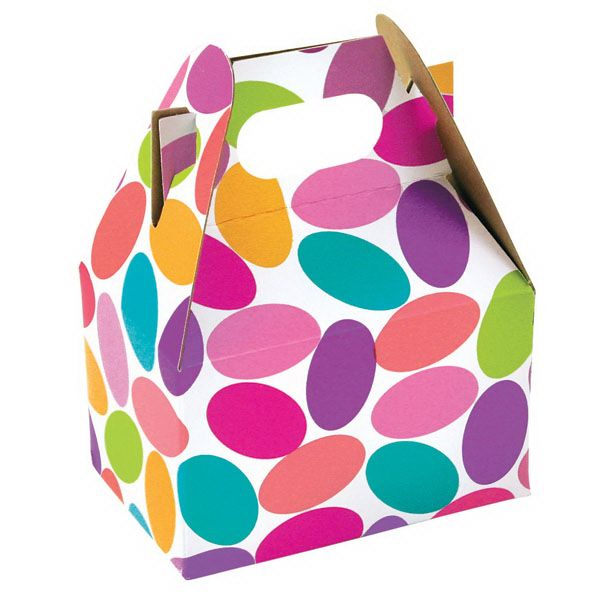 Sally Foster Gift Wrap Part - 39: X X - Mini Gable Box - Candy Confetti - Wholesale Gift Packaging Supplies -  Bags, Gift Wrap, Boxes U0026 More - New Easy Ordering - MAC Paper Su