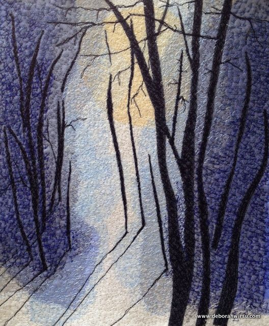Thread Sketching in Action No 70 - Long Shadows in Winter