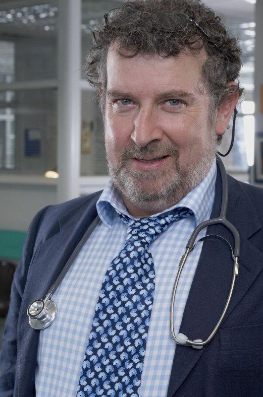 Paul Bradley as lovable, surgical master Prof. Elliot Hope