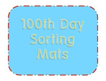 100 Day Snack Sorting Mat