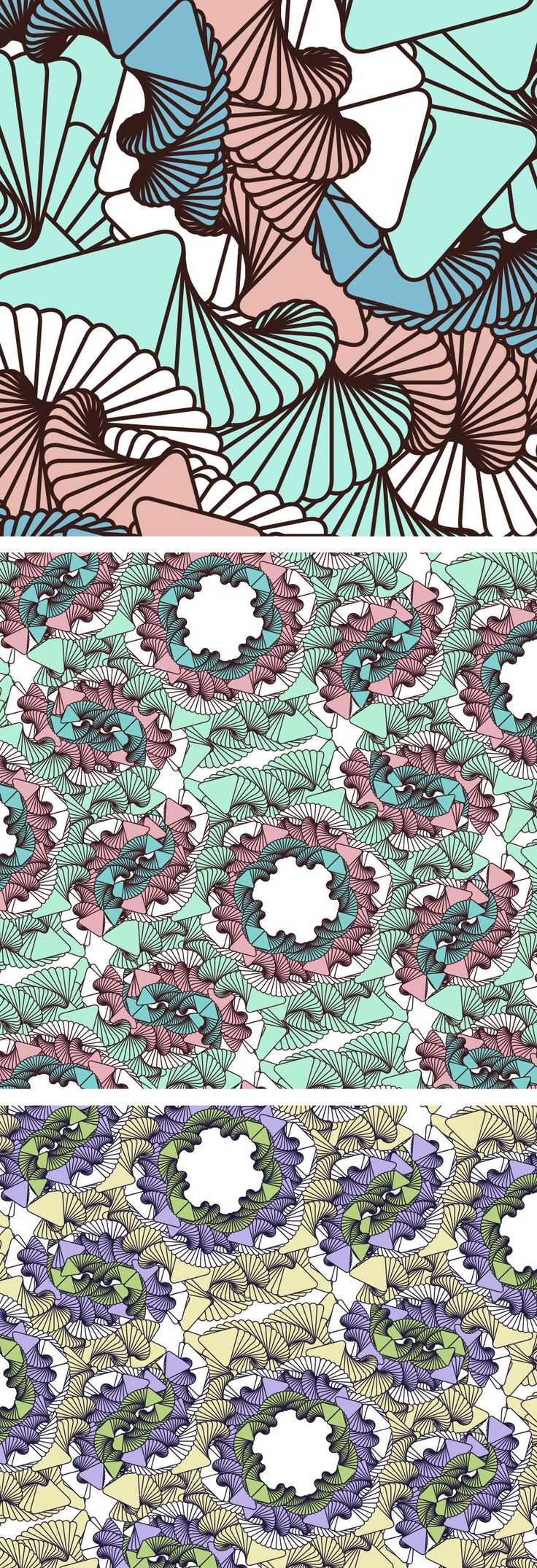 "Pattern / surface design ""Tentacle"". Check out my Bechance for more colors. :D  (CC BY-NC-ND 4.0)"
