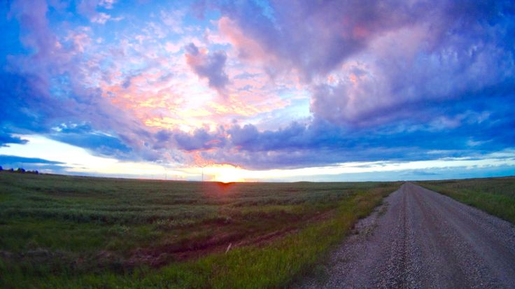 Sunset south of Castor