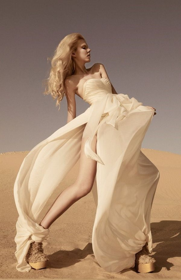 This desert-inspired wedding dress is perfect for a Vegas wedding. What's your wedding inspiration?