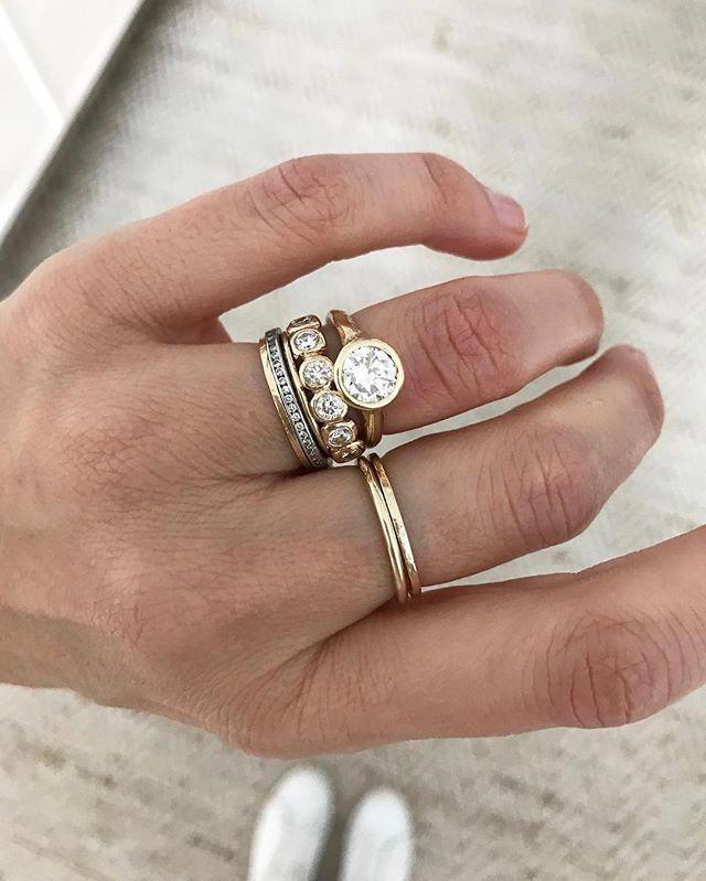 1 3ctw Vs Aquamarine Engagement Ring Set 14k Rose Gold Diamond