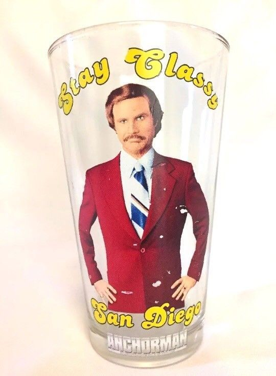 Stay Classy San Diego Anchorman Official Beer Glass  | eBay
