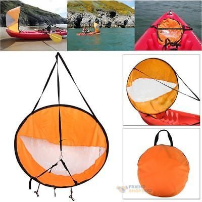 """Durable 42"""" Kayak Boat Wind Sail Sup Paddle Board Sail with Clear Window +Bag #boataccessories"""