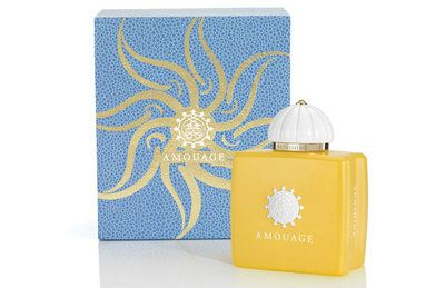 Amouage's 2015 additon, Sunshine! Blond Tobacco, Almond and White Flowers make up essence of this new fragrance, meant to bring a little sunshine into your life!