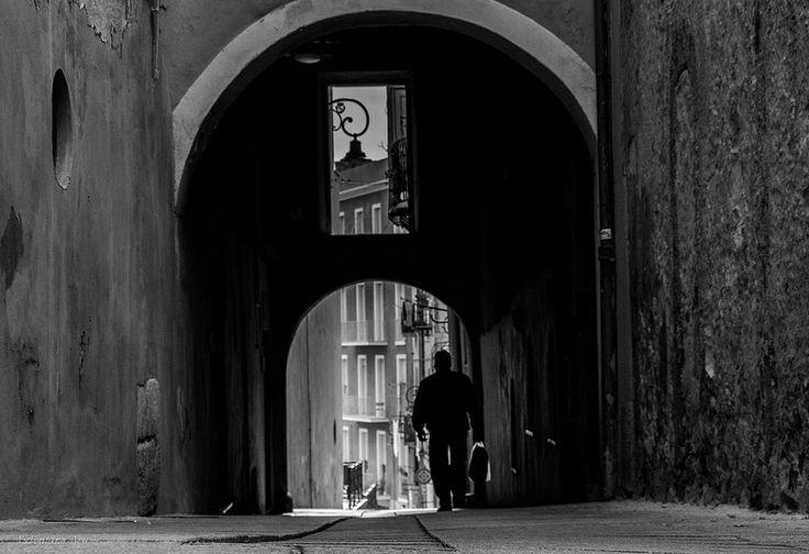 MY City!!!!  Via del Fossario, Castello. Cagliari.