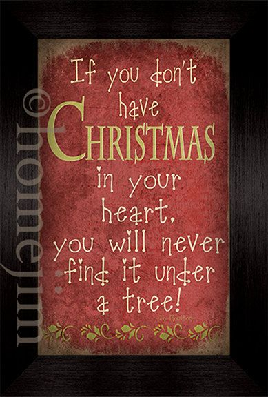 Framed canvas finish art: If you don't have Christmas in your heart. $25.00, via Etsy.: