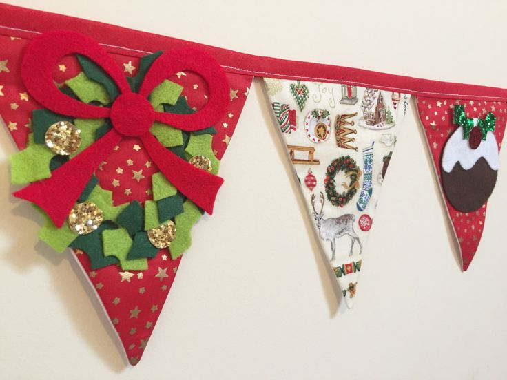 Christmas bunting by Bettybuntings on Etsy https://www.etsy.com/uk/listing/463614298/christmas-bunting