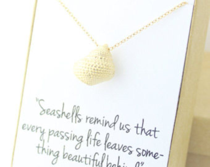 Gold Seashell Necklace - Sea Shell - Conch Necklace - Sympathy Gift - Condolence Gift - Memorial - Bereavement - Seashells remind us that