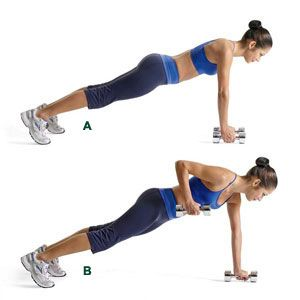 plank with row. slim sanity: another killer Jillian workout