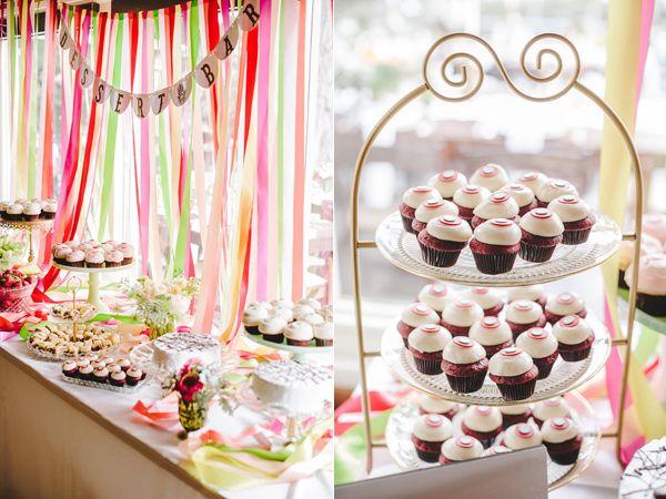 sweet bar - dessert tables - photo by Orange Owl Photography http://ruffledblog.com/a-whimsical-bohemian-wedding-in-la-jolla