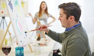 Groupon - A Two-Hour BYOB Painting Class for One, Two, or Four Adults at Picasso's Corner (Up to 51% Off) in Woodstock. Groupon deal price: $13