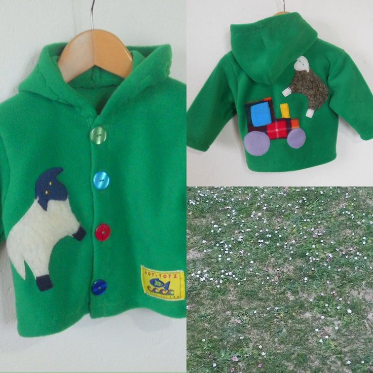 Springtime on Achill Island, keep the little ones warm and cosy in a children's fleece jacket . the magic of lambs and farm life captured on a warm, high quality hooded fleece jacket