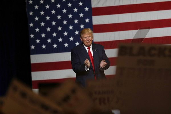 Republican presidential candidate Donald Trump speaks during a campaign rally at the South Florida Fair Expo Center on October 13, 2016 in West Palm Beach, Florida. Trump continues to campaign against Democratic presidential candidate Hillary Clinton with less than one month to Election Day.