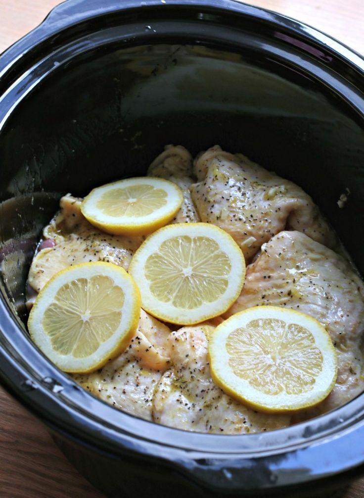 slow cooker lemon pepper chicken thighs