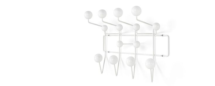 Wall-mounted coat rack / contemporary / metal / by Charles & Ray Eames - HANG-IT-ALL - Herman Miller