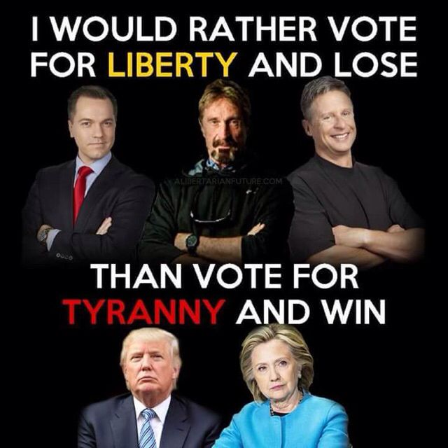 Vote for Liberty! Austin Petersen, John McAfee, and Gary Johnson