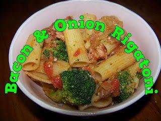 A Pretty Talent Blog: Bacon & Onion Rigatoni