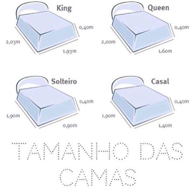17 melhores ideias sobre medidas cama king no pinterest for Colchon para cama king size