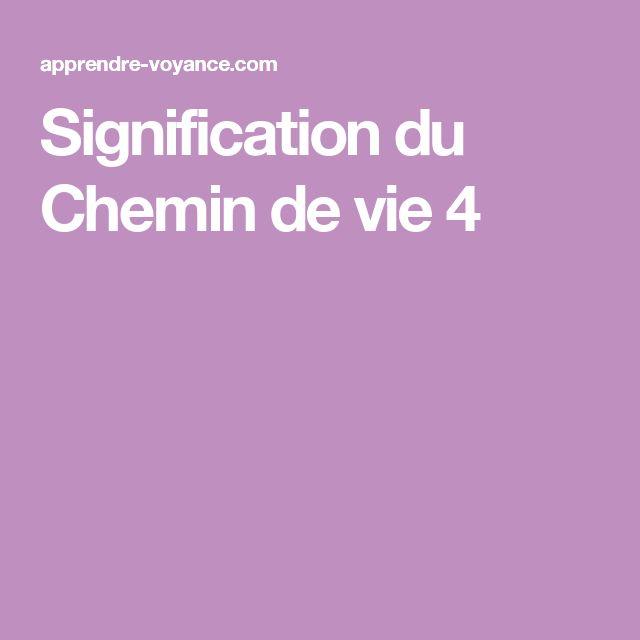 Signification du Chemin de vie 4