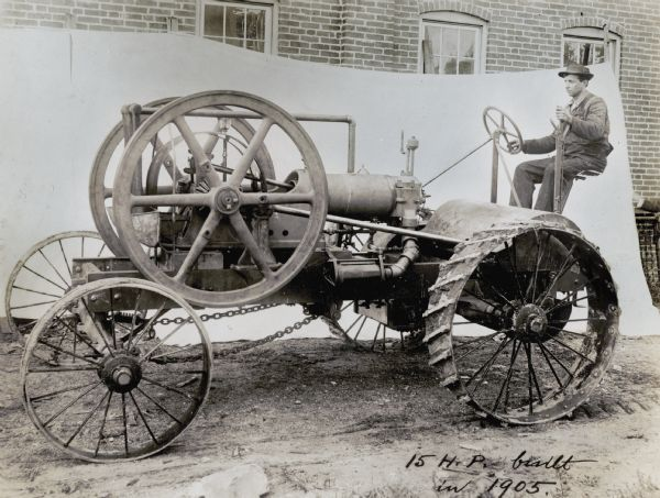 Early Experimental Tractor | Photograph | Wisconsin Historical Society