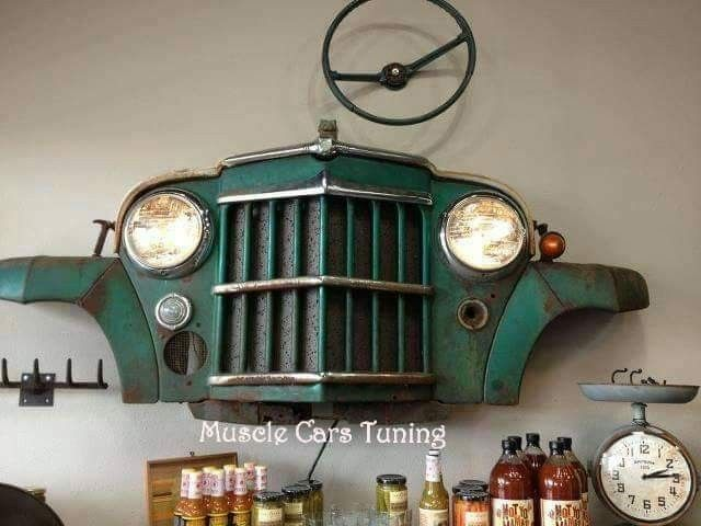 Top 10 Ideas To Reuse Old Car Parts Craft Keep Reuse Old Cars Car Part Furniture Car Wall Art
